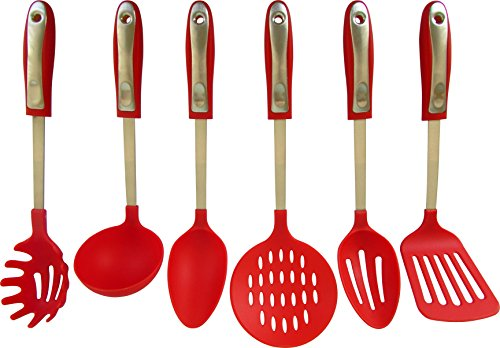 Equinox international 6 piece nylon and stainless steel cooking kitchen utensil set next teraionfo